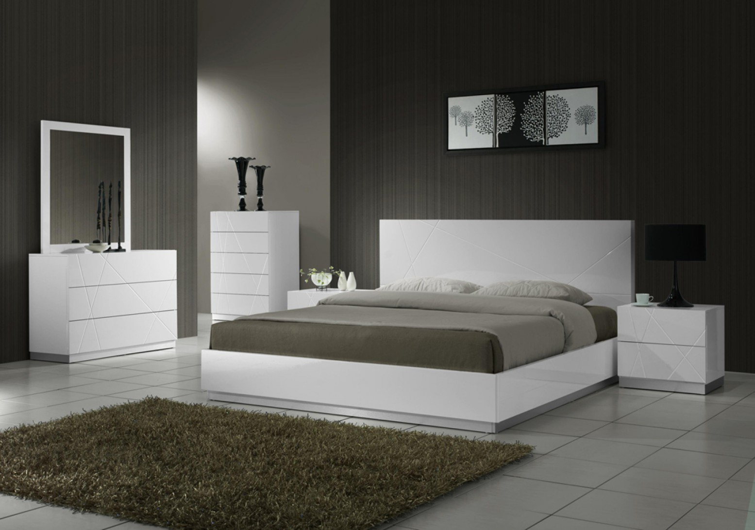 Naples Modern Lacquer Platform Bedroom Set White Lacquer Jm in 11 Smart Initiatives of How to Upgrade White Modern Bedroom Sets