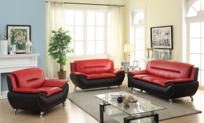 New 3 Pcs Contemporary Bonded Leather Sofa Set Living Room Set inside Living Room Set Sale