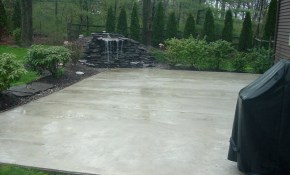 Patio Ideas Backyard Cement Designs Stamped Concrete With Rails regarding 12 Smart Ways How to Upgrade Backyard Cement Patio Ideas