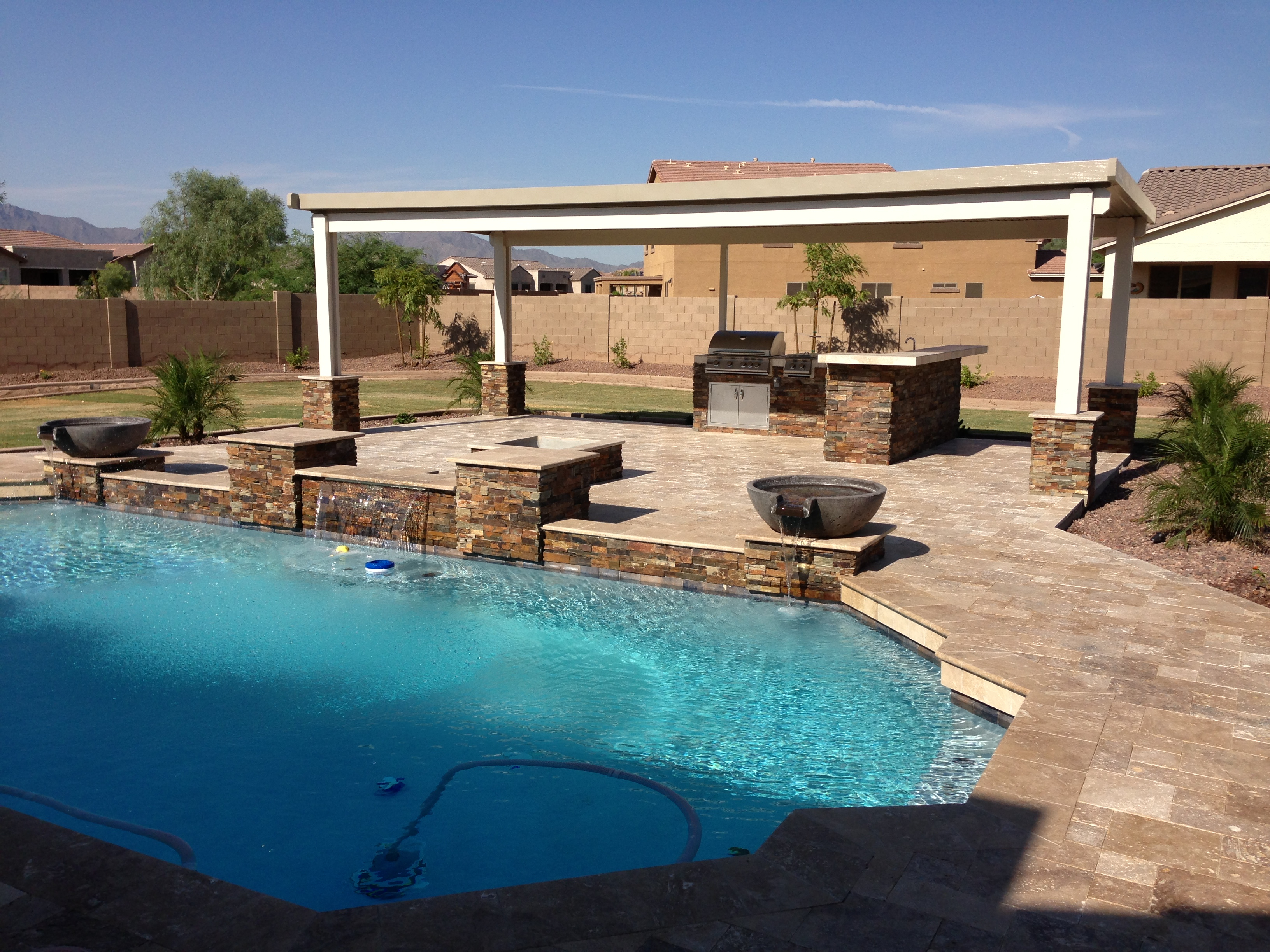 Phoenix Landscaping Designs Outdoor Kitchens And Pavers regarding 12 Some of the Coolest Designs of How to Improve Backyard Landscaping Arizona