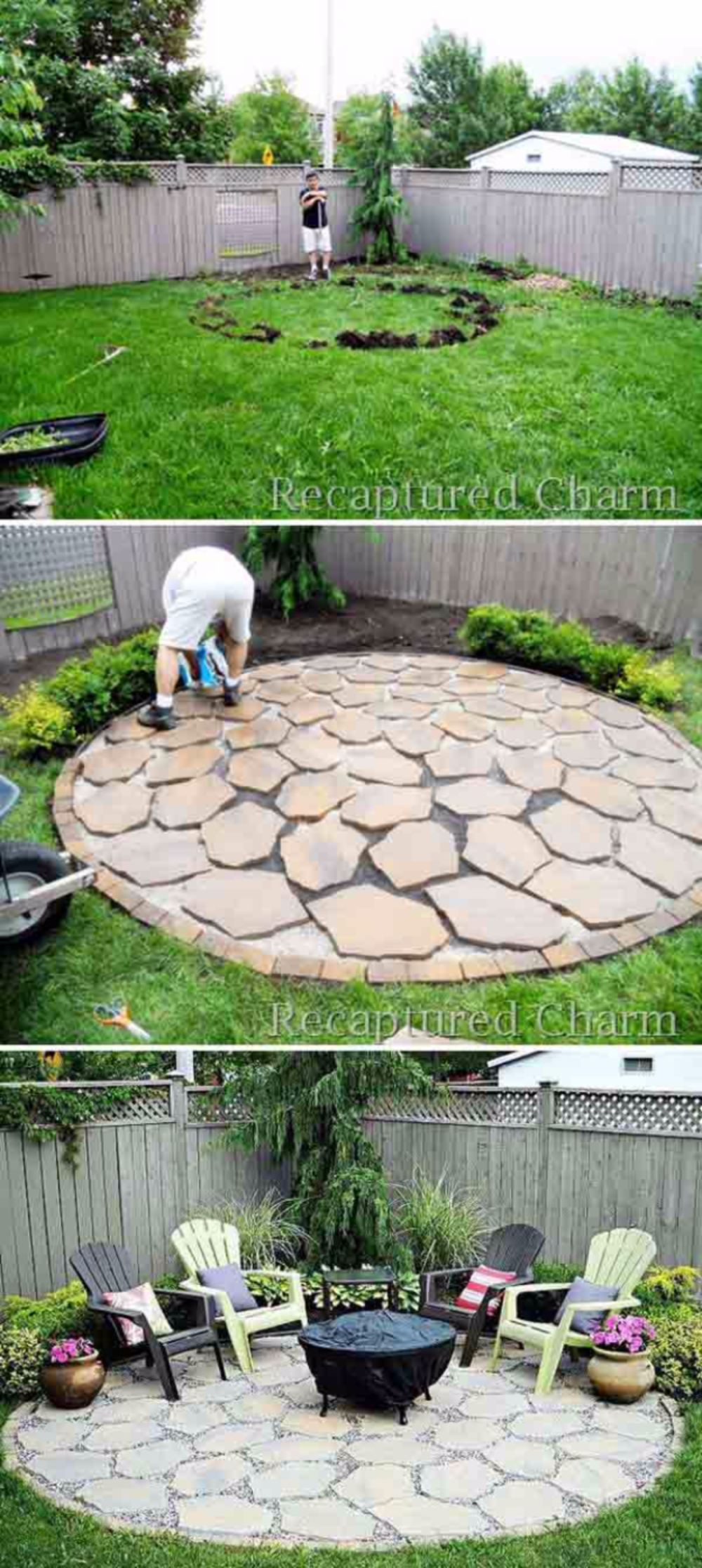 Pin Alexandra Depastene On For The Home Backyard Landscaping for 14 Clever Initiatives of How to Makeover Backyard Patio Ideas Cheap
