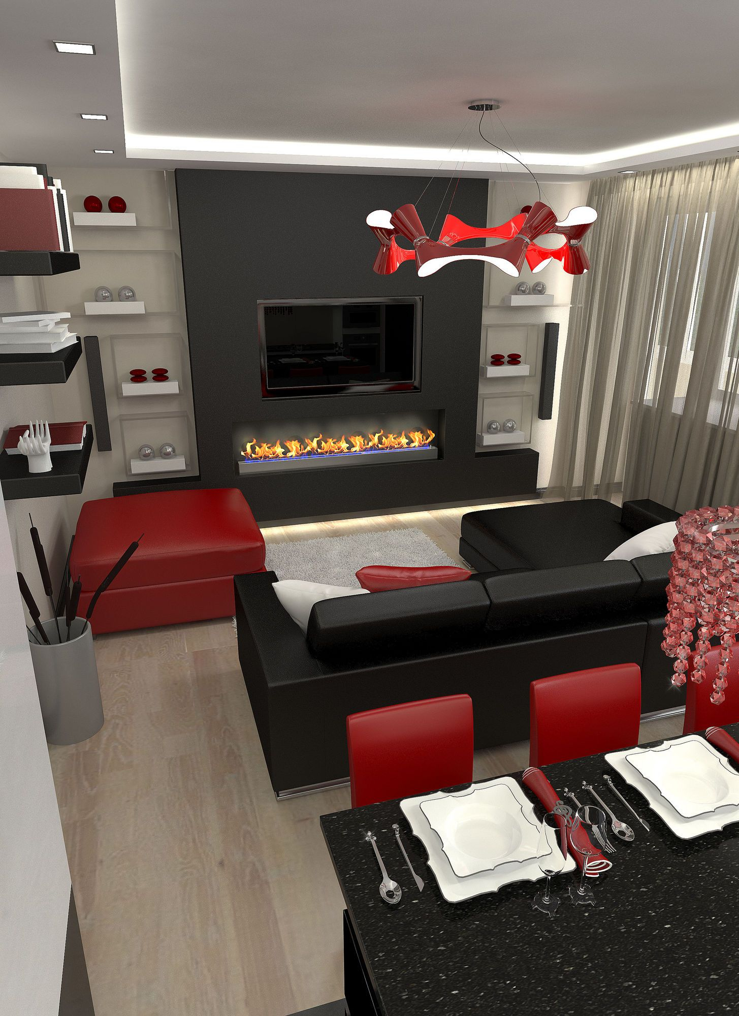Pin Gsac On Red And Grey Home Office Pinterest Sisustus And intended for 11 Genius Designs of How to Craft Red And Black Living Room Sets