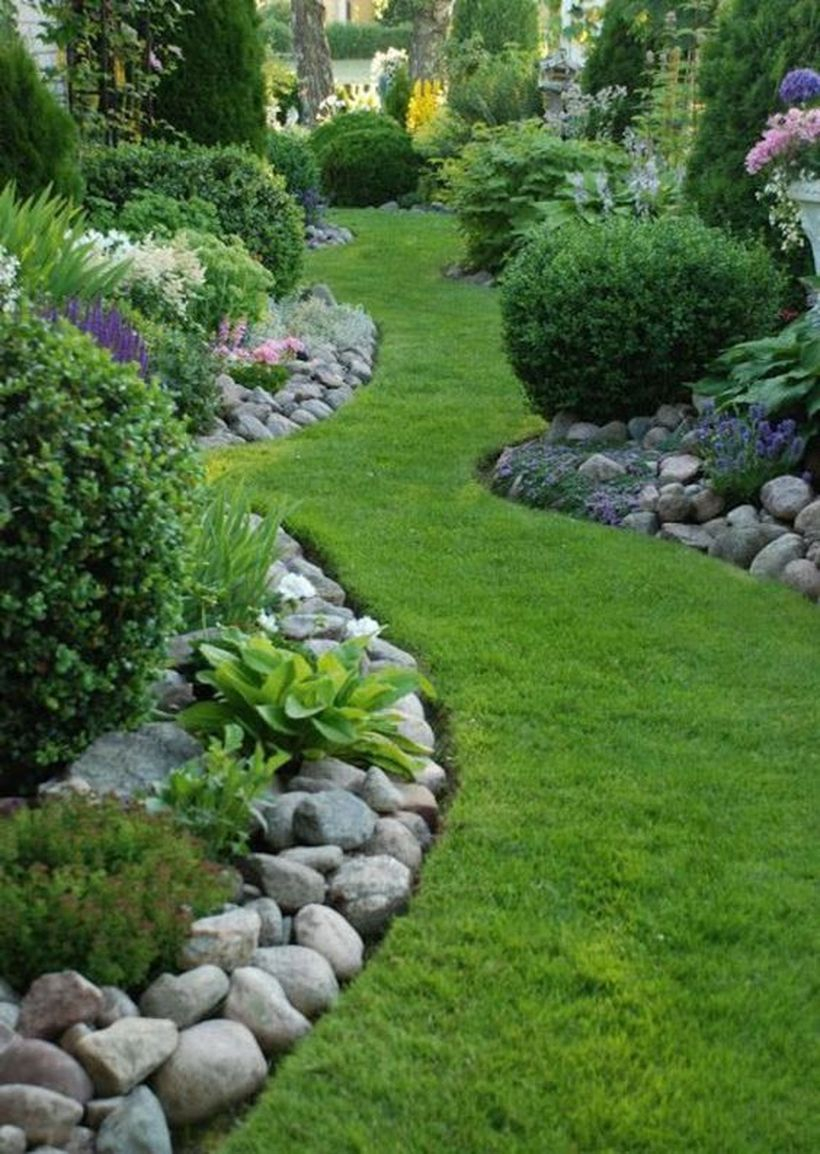 Pin Yvonne Spinella On Garden Garden Landscaping Rock Garden throughout 10 Clever Initiatives of How to Improve Rock Backyard Landscaping Ideas