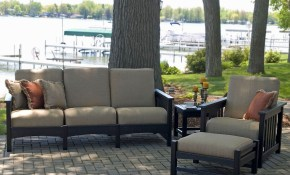 Polywood 4 Piece Outdoor Living Patio Set Deep Seating Sets for Outdoor Living Room Sets