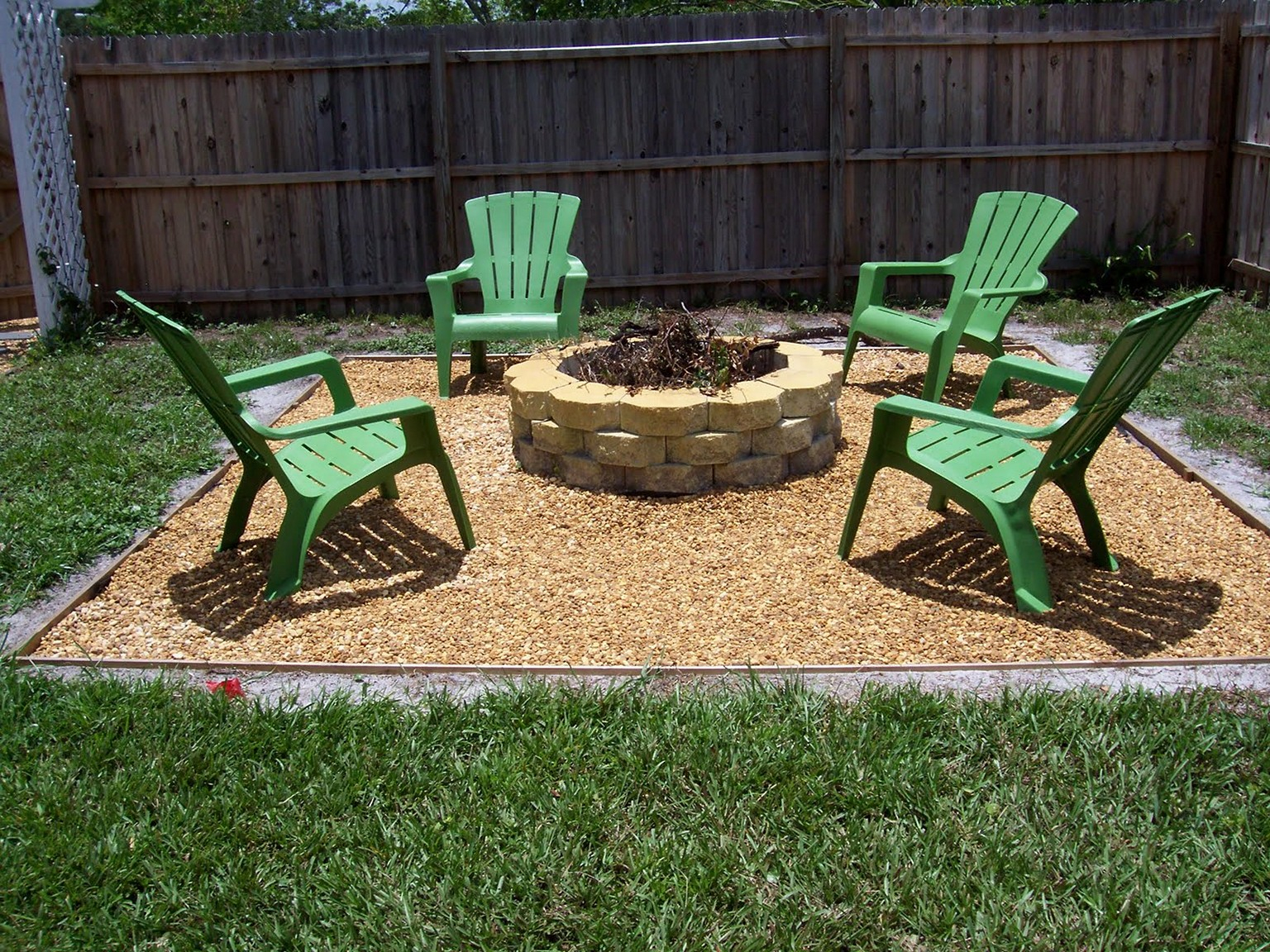 Popular Fire Pit Landscaping Ideas Home Design Concrete With Gravel regarding Backyard Landscaping Ideas With Fire Pit