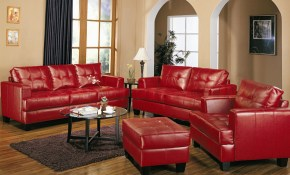 Red Leather Living Room Sets Amberyin Decors Decorate A Leather within Red Leather Living Room Set