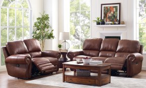 Rossi Collection Leather 2 Piece Light Brown Living Room Set in 15 Clever Tricks of How to Build Orange Living Room Sets
