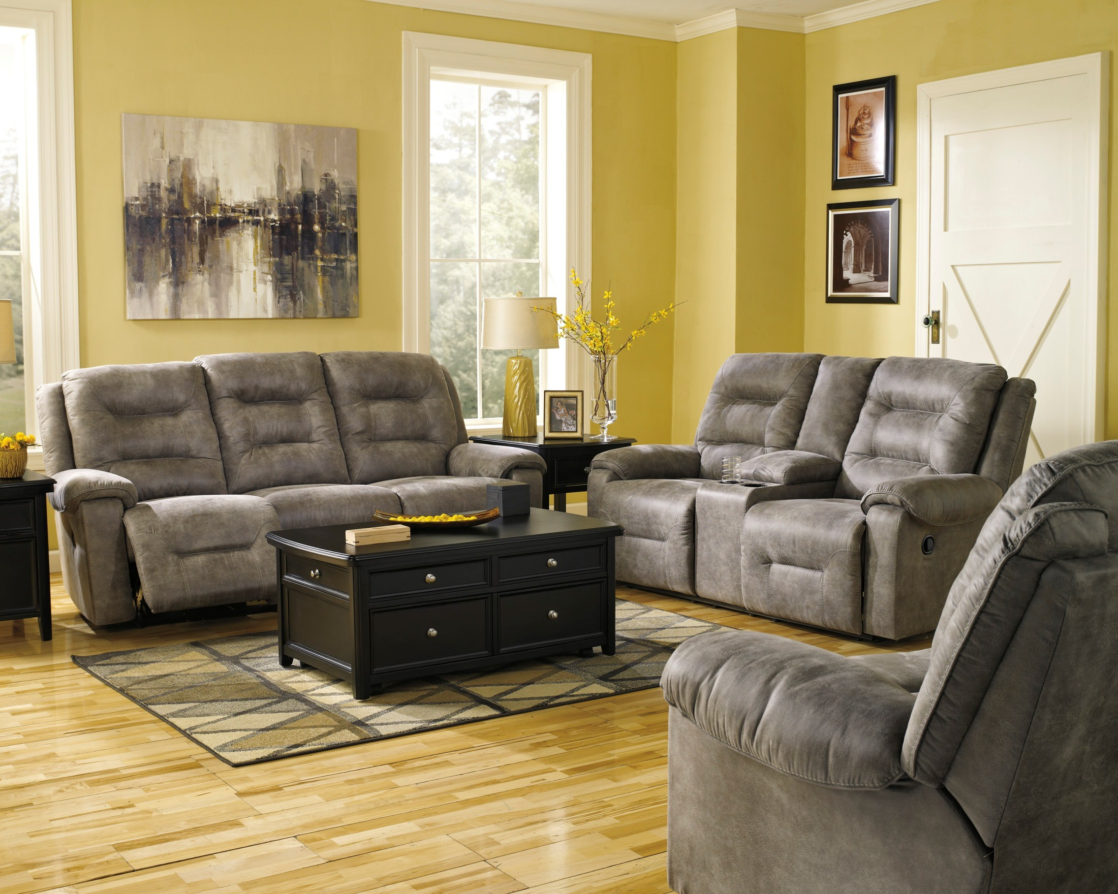 Rotation Smoke Power Reclining Living Room Set From Ashley 97501 87 pertaining to 15 Some of the Coolest Ways How to Craft Reclining Sofa Living Room Set
