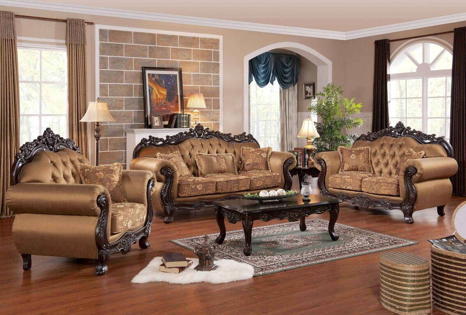 Sharon 3 Pc Living Room Set Antique Recreations intended for 11 Clever Ways How to Build Living Room Set For Sale