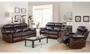 Shop Abson Braylen 3 Piece Top Grain Leather Reclining Living Room pertaining to Living Room Recliner Sets