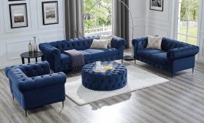 Shop Corvus Prato Velvet Rolled Arm Sofa And Ottoman Living Room Set pertaining to Living Rooms Sets