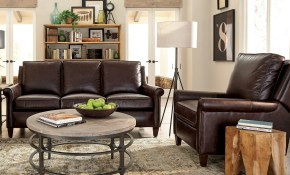 Shop Jericho Two Piece Dark Brown Leather Queen Sleeper Sofa for Sleeper Living Room Sets