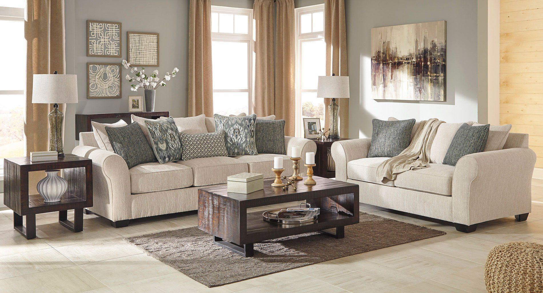 Silsbee Sepia Living Room Set In 2019 Family Room Pinterest pertaining to Comfortable Living Room Sets