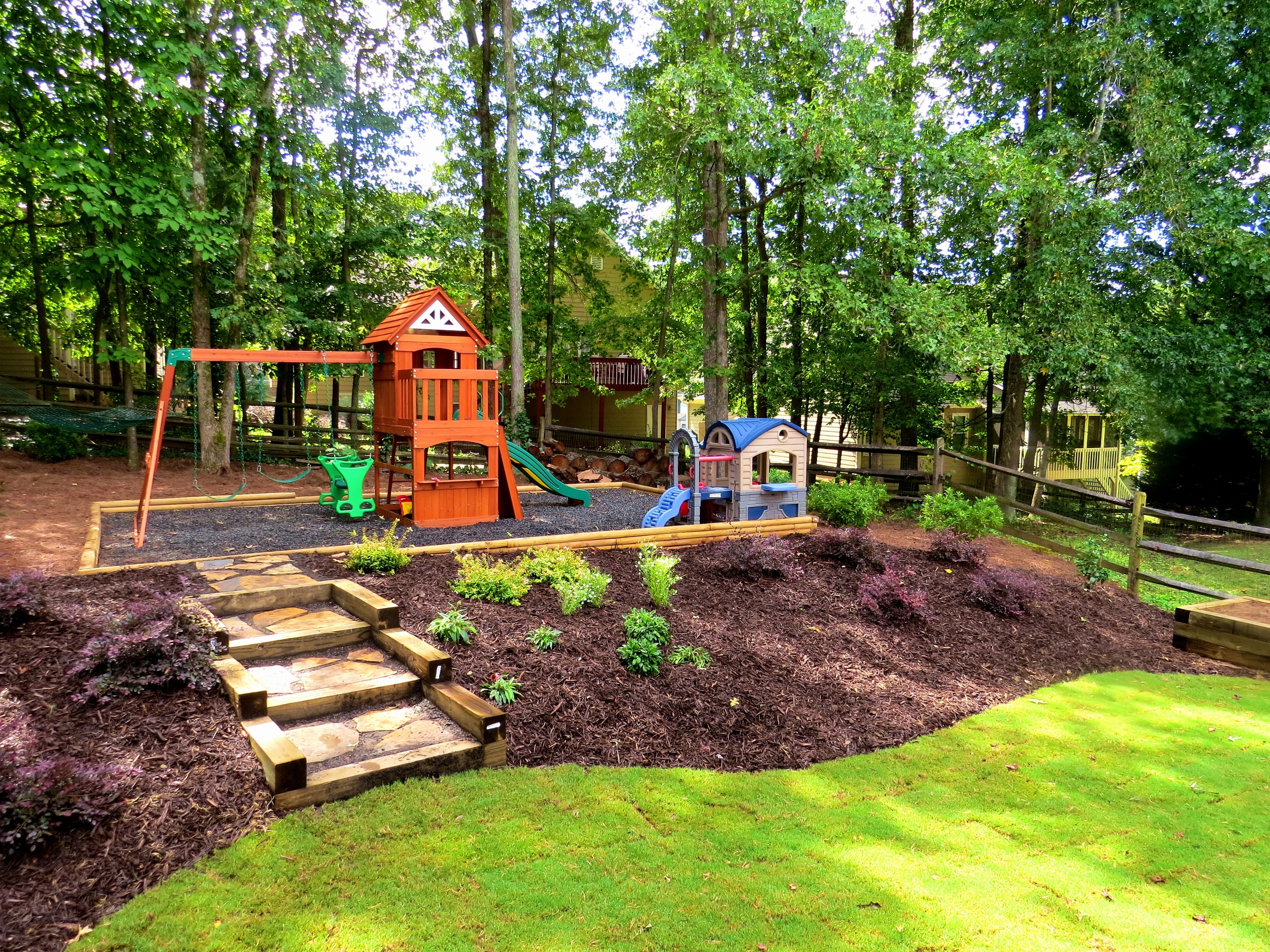 Sloped Backyard Landscaping Ideas Landscape S Luxury intended for Landscaping A Hilly Backyard