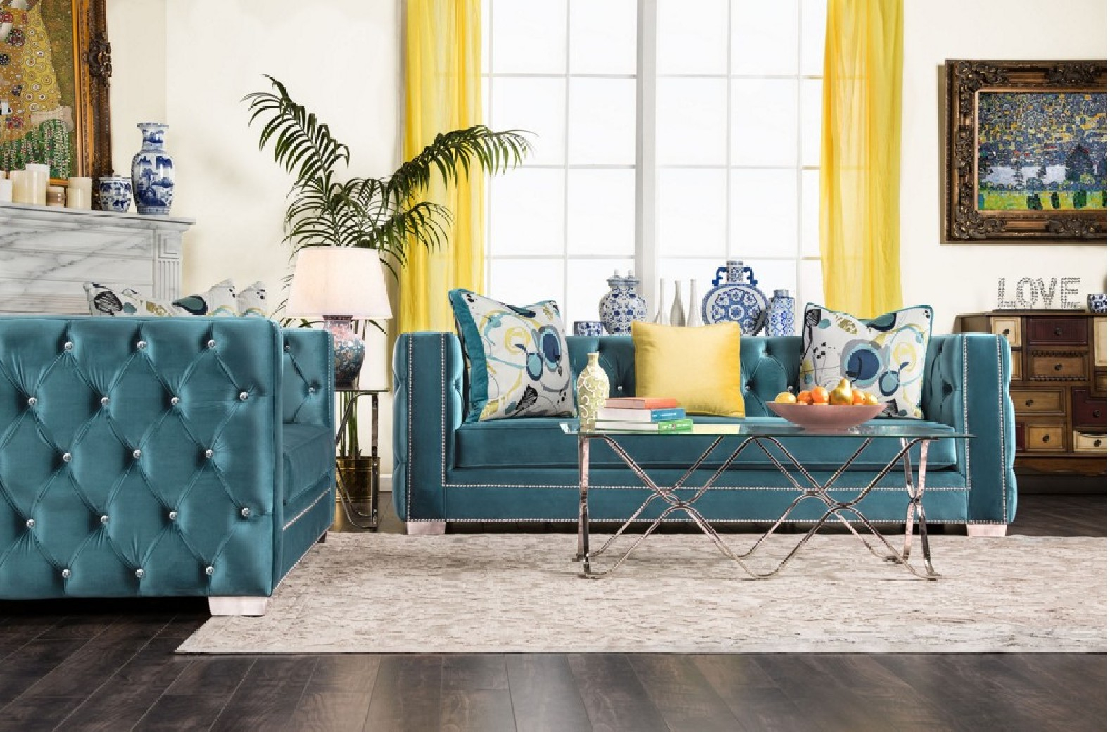 Sm2282 Furniture Of America Salvatore Living Room Set Turquoise Fabric regarding 15 Some of the Coolest Ways How to Make Turquoise Living Room Set