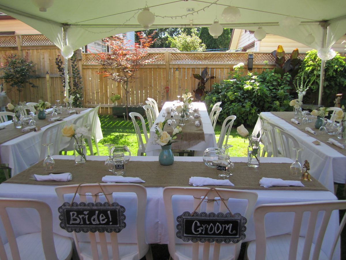 Small Backyard Wedding Best Photos Wedding Backyard Wedding with Ideas For A Backyard Wedding