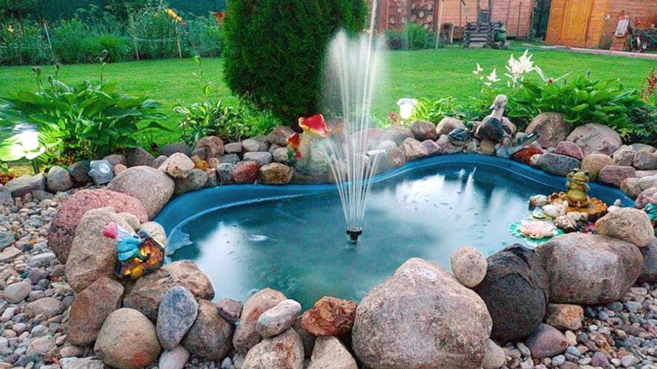 Small Creative Water Fountain Design Ideas Diy Outdoor Fountains within Backyard Water Fountains Ideas