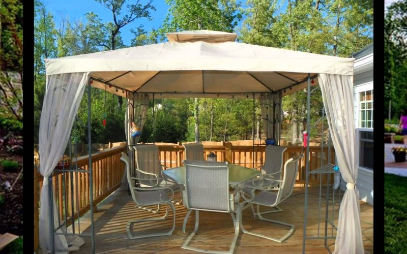 Small Patio Gazebo Ideas Youtube inside 13 Clever Initiatives of How to Make Small Backyard Gazebo Ideas