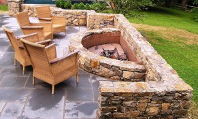 Stone Backyard Fire Pit Ideas Neontuners with Fire Pit Ideas For Small Backyard