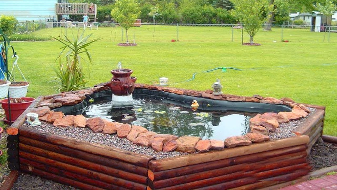 Stunning Above Ground Small Pond Ideas Backyard Ponds And Water in 10 Genius Designs of How to Make Ponds Ideas Backyard