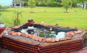 Stunning Above Ground Small Pond Ideas Backyard Ponds And Water inside Backyard Small Pond Ideas