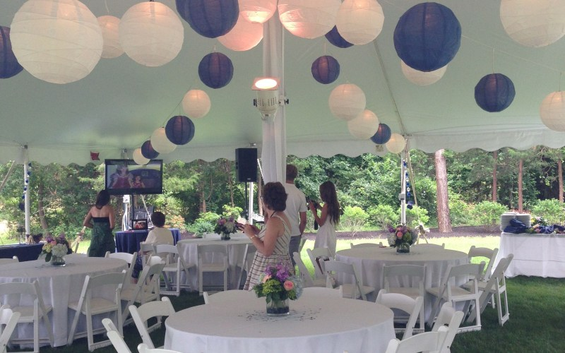 Tented Blue And White Graduation Party Backyard Party Outdoor with regard to Graduation Backyard Party Ideas