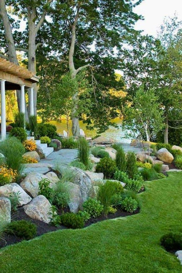 The Best Rock Garden Landscaping Ideas To Make A Beautiful Front in Best Backyard Landscaping