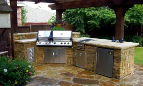 These Diy Outdoor Kitchen Plans Turn Your Backyard Into intended for Backyard Kitchen Ideas