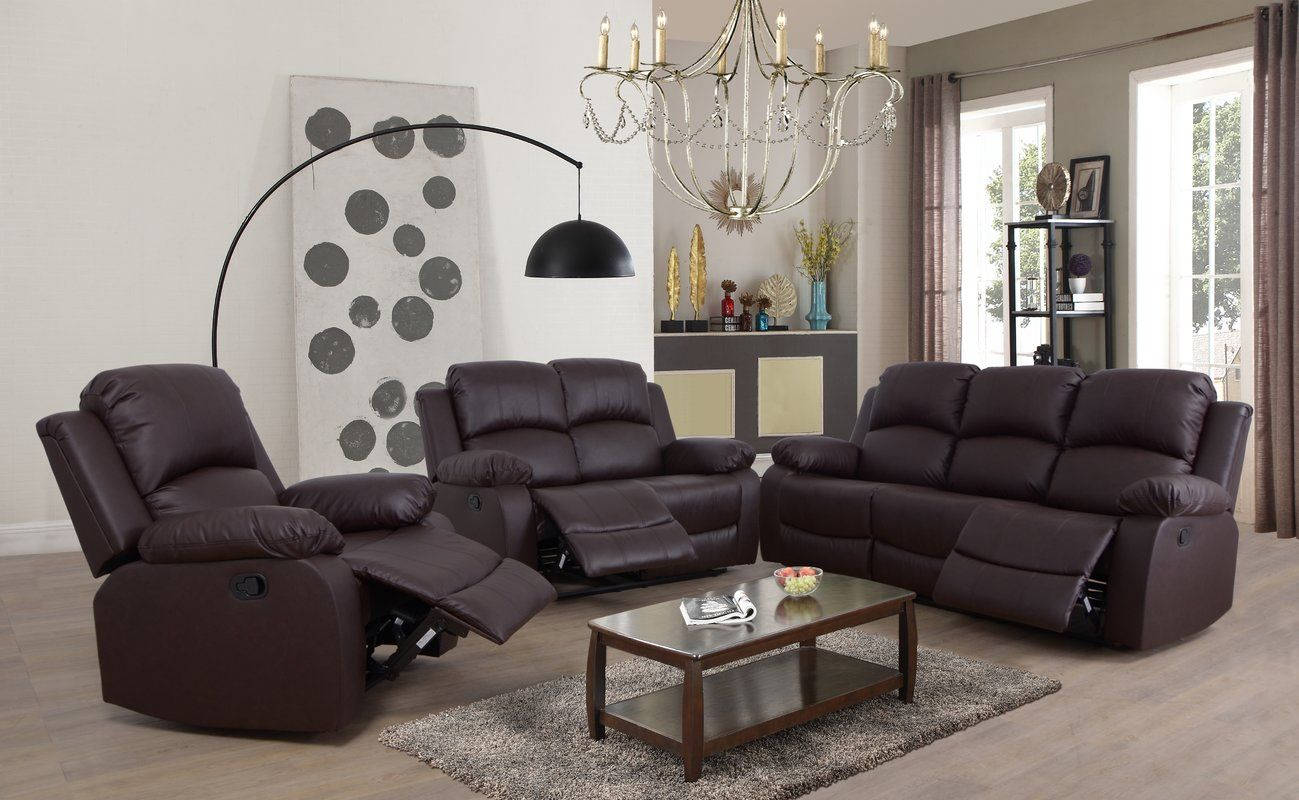 Top Quality Faucher 3 Piece Living Room Set Winston Porter with regard to How Much Does A Living Room Set Cost