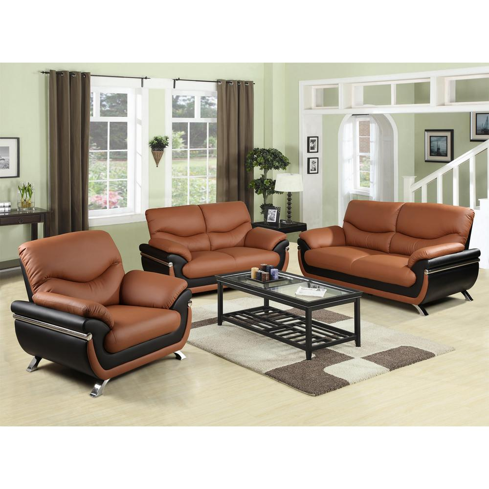 Two Tone Red And Black Leather Three Piece Sofa Set Sh216 The Home with regard to Full Living Room Sets Cheap