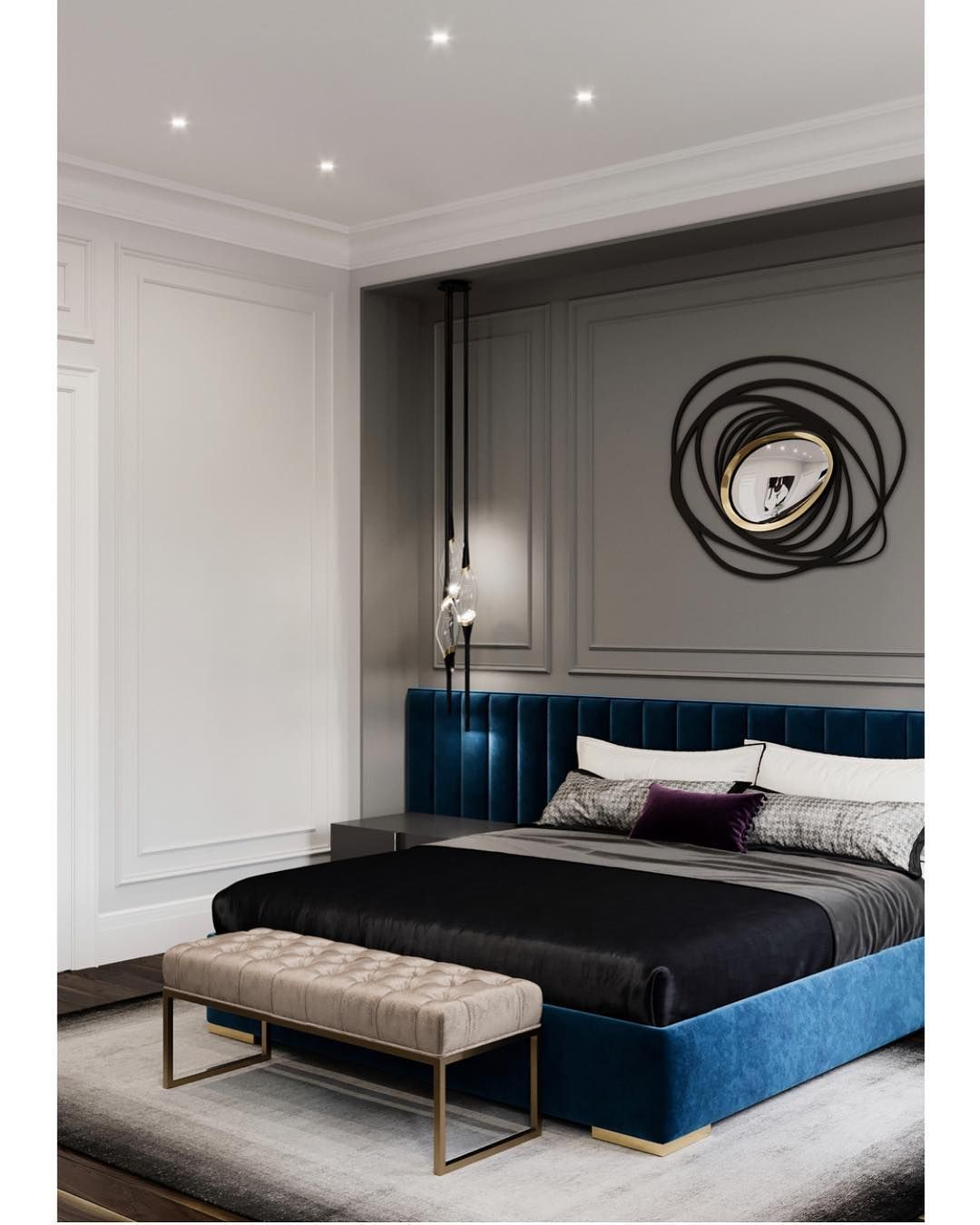 Vikki Chambers Williams On Instagram Such A Chic And Elegant intended for Modern Elegant Bedroom