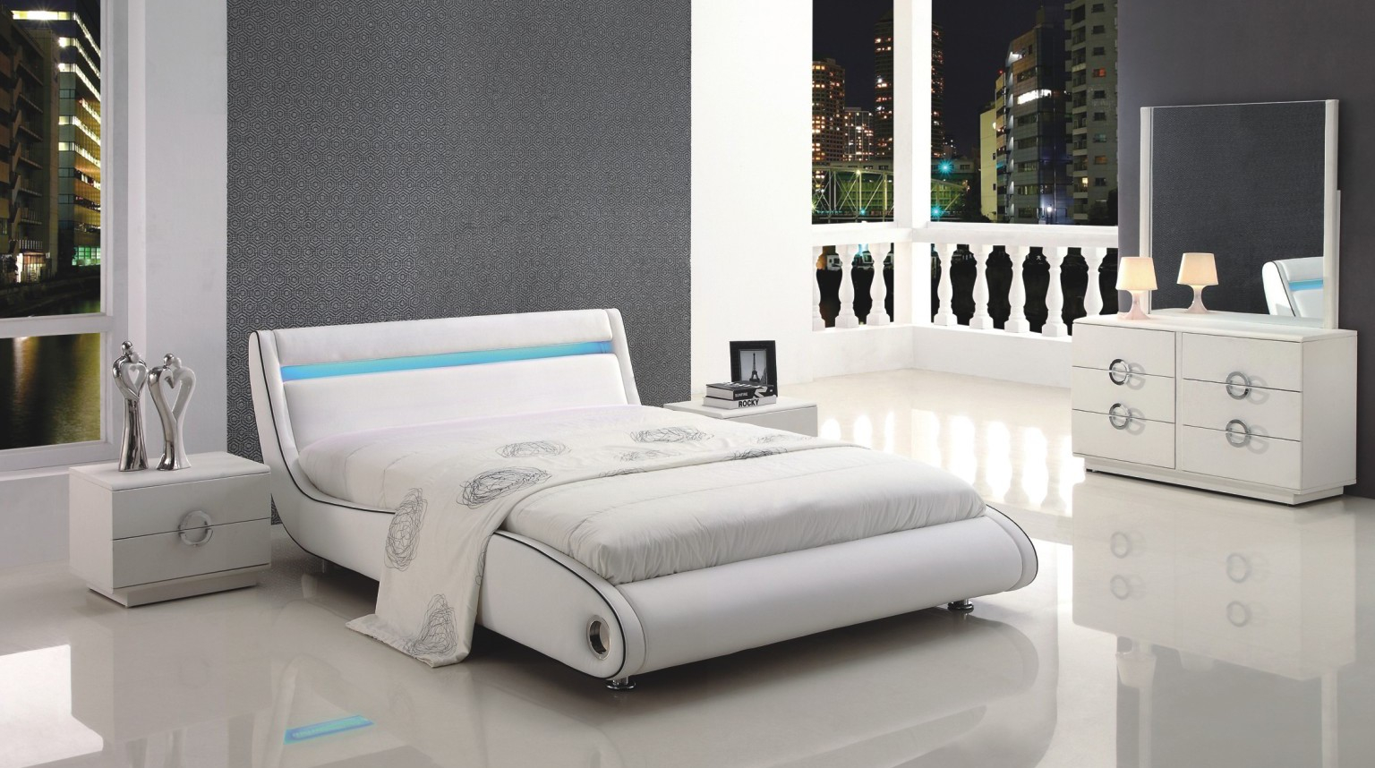 White King Bedroom Set The New Way Home Decor King Bedroom Set within Modern King Size Bedroom Set