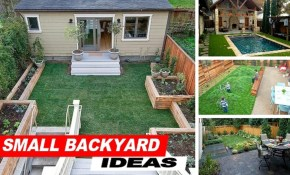 Wow Small Backyard Ideas With Grass Youtube in Backyard Landscaping Tips