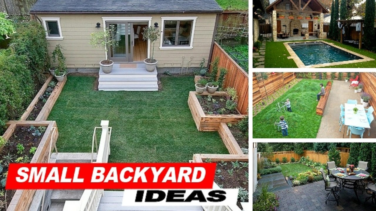 Wow Small Backyard Ideas With Grass Youtube with regard to 15 Clever Designs of How to Craft Great Small Backyard Ideas