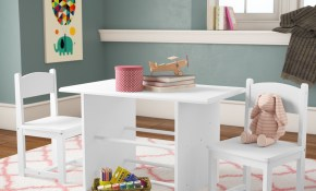 Zoomie Kids Pete Kids 3 Piece Arts And Crafts Table And Chair Set in 14 Some of the Coolest Ways How to Makeover Kids Living Room Set