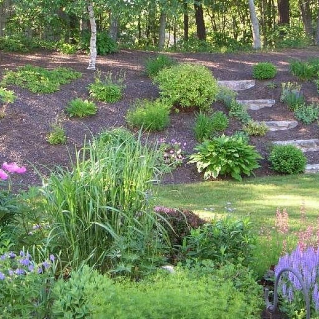 10 Stunning Landscape Ideas For A Sloped Yard Page 4 Of 11 Backyard with Backyard Hill Ideas