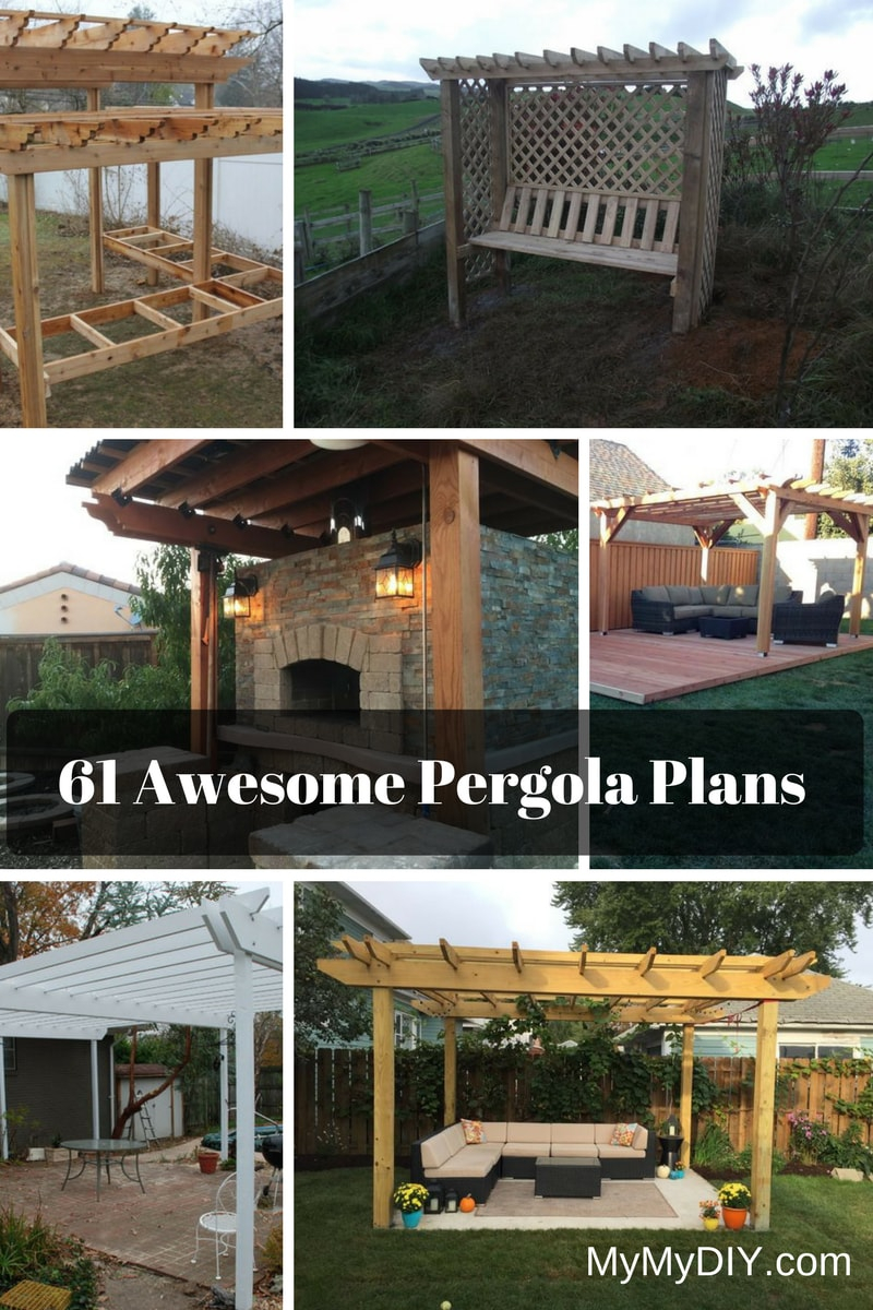 61 Pergola Plan Designs Ideas Free Mymydiy Inspiring Diy in 13 Some of the Coolest Initiatives of How to Improve Backyard Arbor Design Ideas
