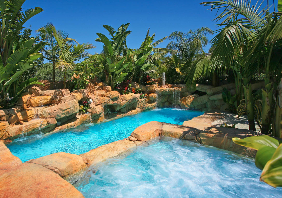 63 Invigorating Backyard Pool Ideas Pool Landscapes Designs Home pertaining to Backyard Hill Ideas