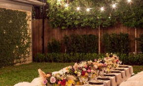 A Bohemian Backyard Dinner Party Wedding And Events Planning Ideas in Backyard Party Decoration Ideas