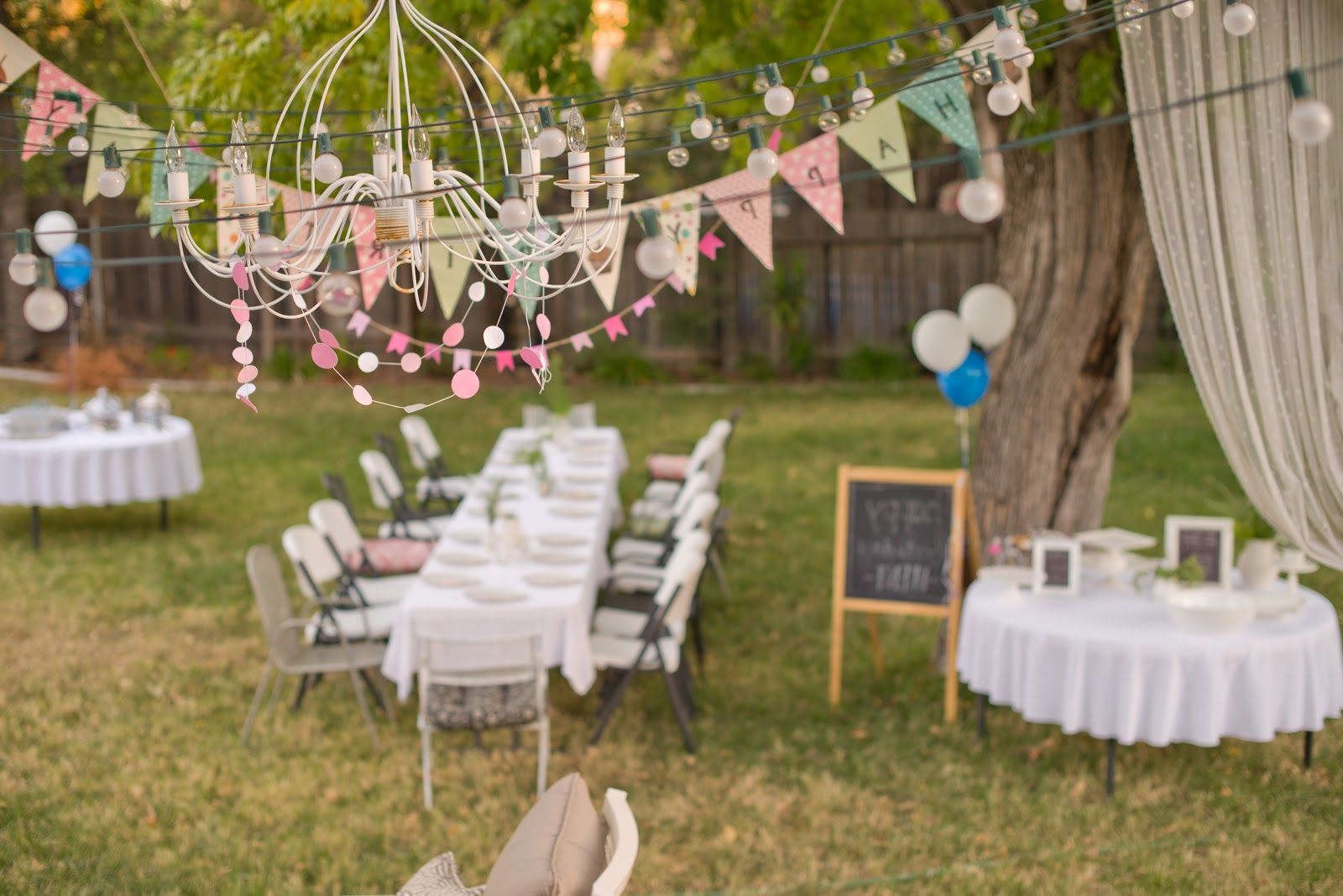 Backyard Birthday Party Decorating Ideas Google Search Party pertaining to Backyard Party Decoration Ideas