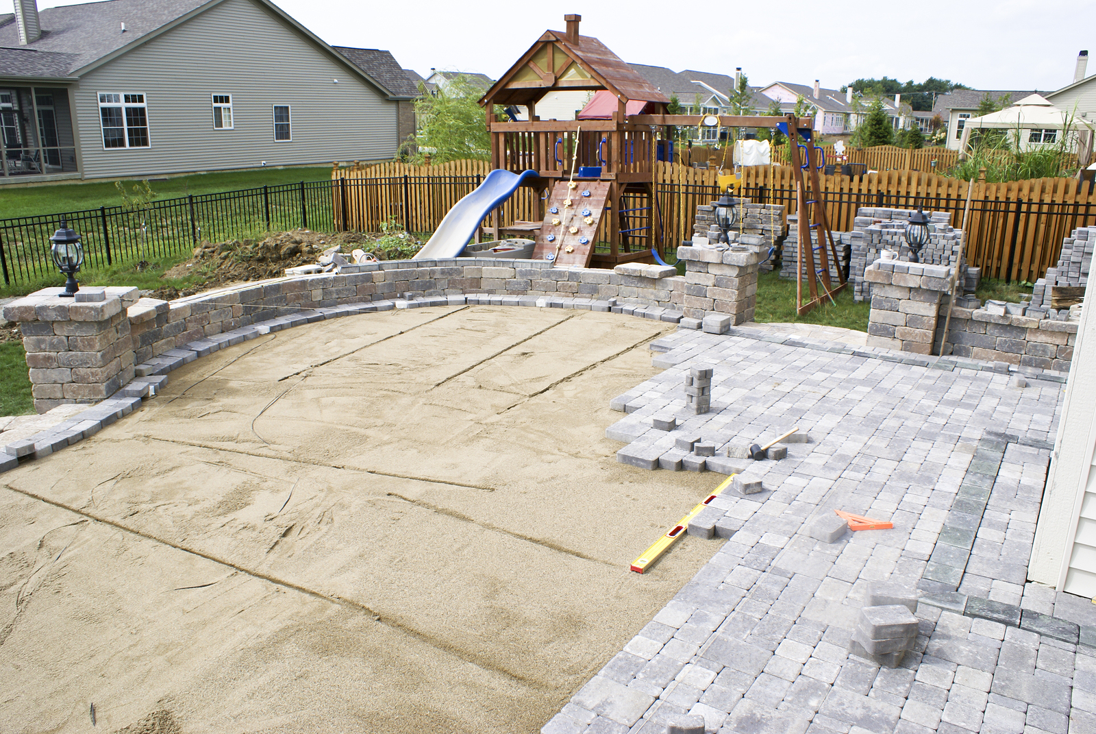 Backyard Pavers Plans Home Ideas Utilizing Backyard Pavers For intended for Backyard Paving Ideas