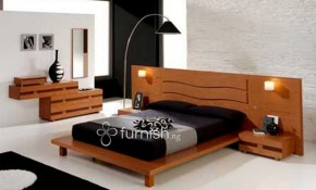 Buy The Iranola 5 Piece Modern Mdf Bedroom Set 1 Platform Bed 2 pertaining to Modern King Size Platform Bedroom Sets