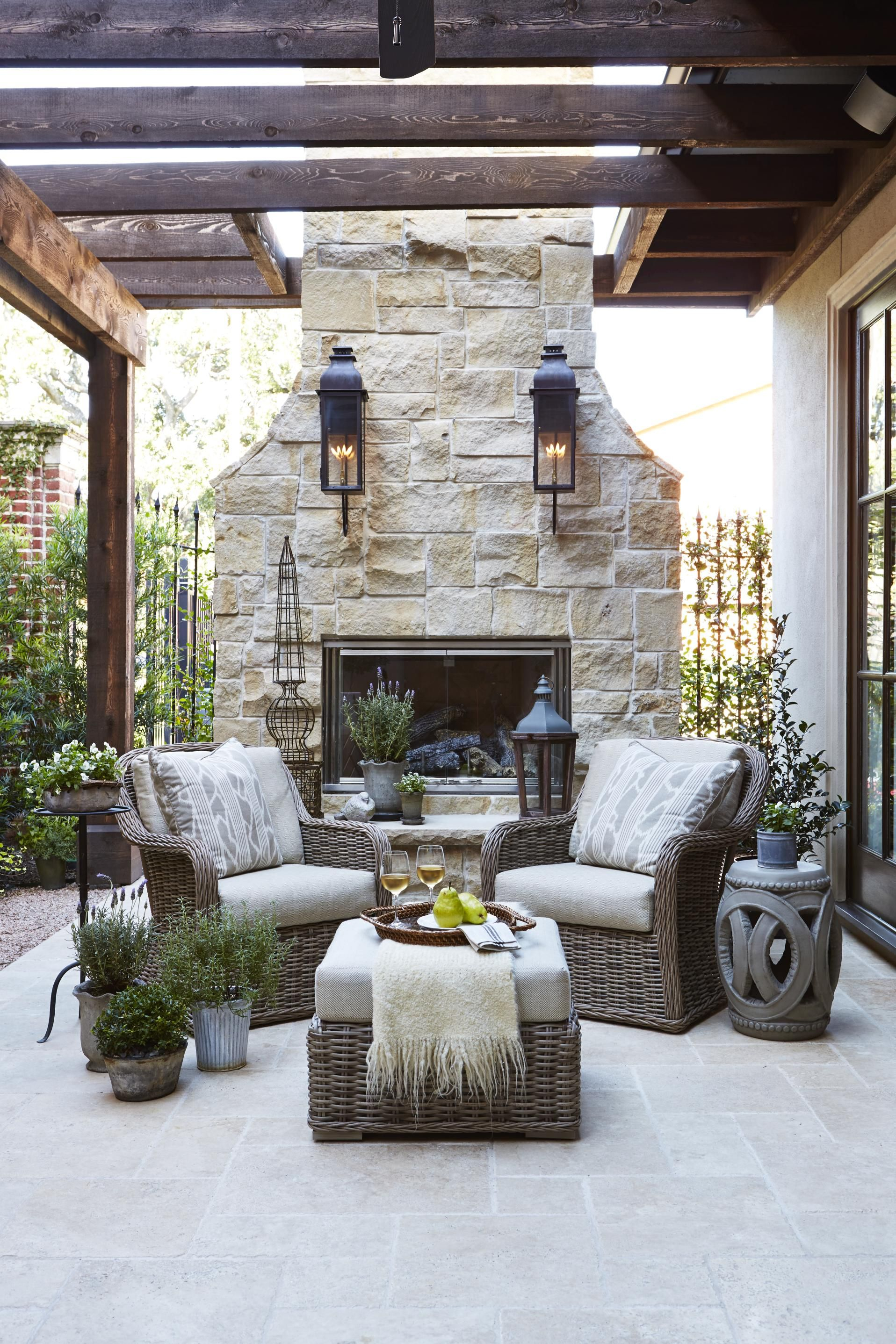 Country French Loggias In 2019 Cabanas Outside Entertainment intended for 13 Some of the Coolest Concepts of How to Craft Outdoor Living Room Set