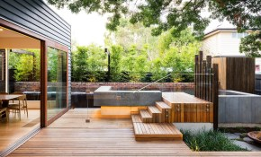 Family Fun Modern Backyard Design For Outdoor Experiences To Come intended for Contemporary Backyard Landscaping Ideas
