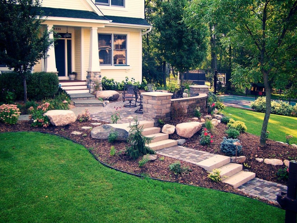 Frontyard Garden Small Front Yard Steps Ideas Landscape Designs For in 13 Smart Tricks of How to Improve Backyard Steps Ideas