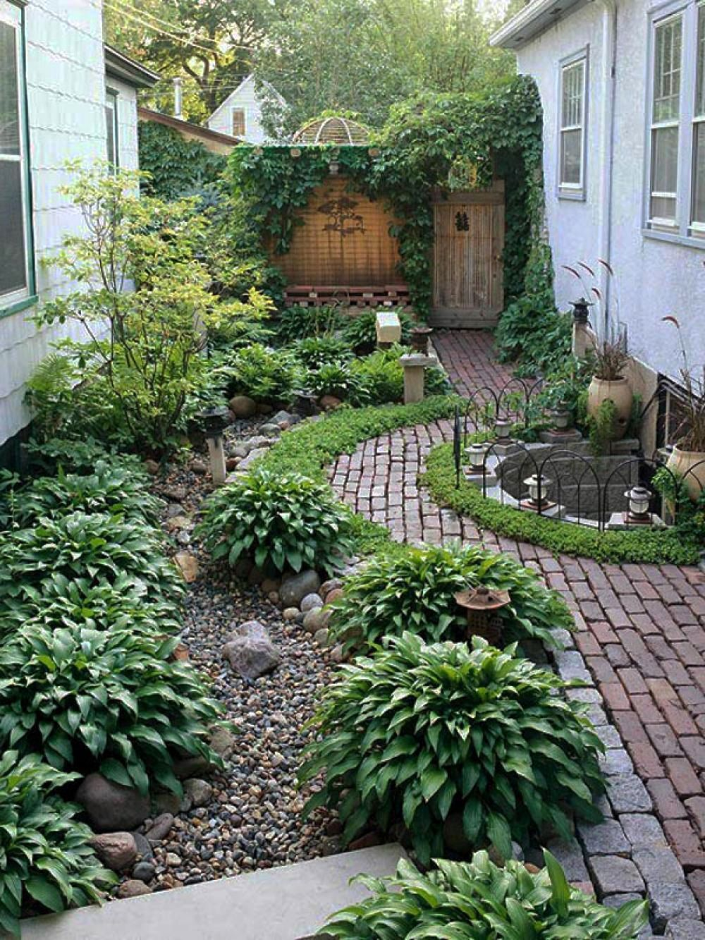 Garden And Patio Narrow Side Yard House Design With Simple regarding 12 Genius Initiatives of How to Makeover Backyard Ideas No Grass