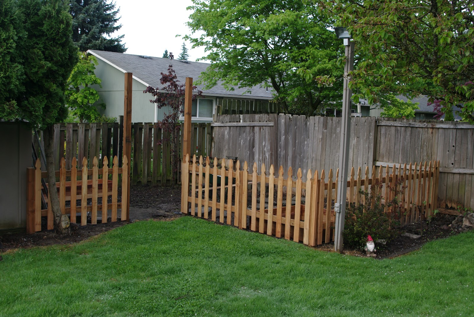 Homelifescience Backyard Garden Fence In Progress throughout 11 Genius Designs of How to Makeover Backyard Garden Fence
