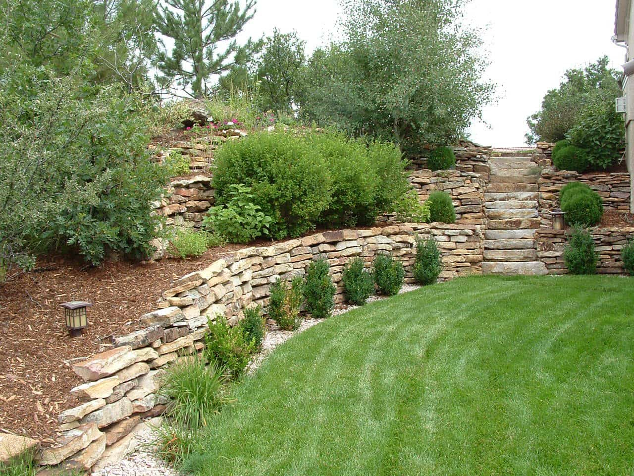 Landscape Design For Sloped Yards Timberline Landscaping Inc with regard to Sloped Backyard Landscaping