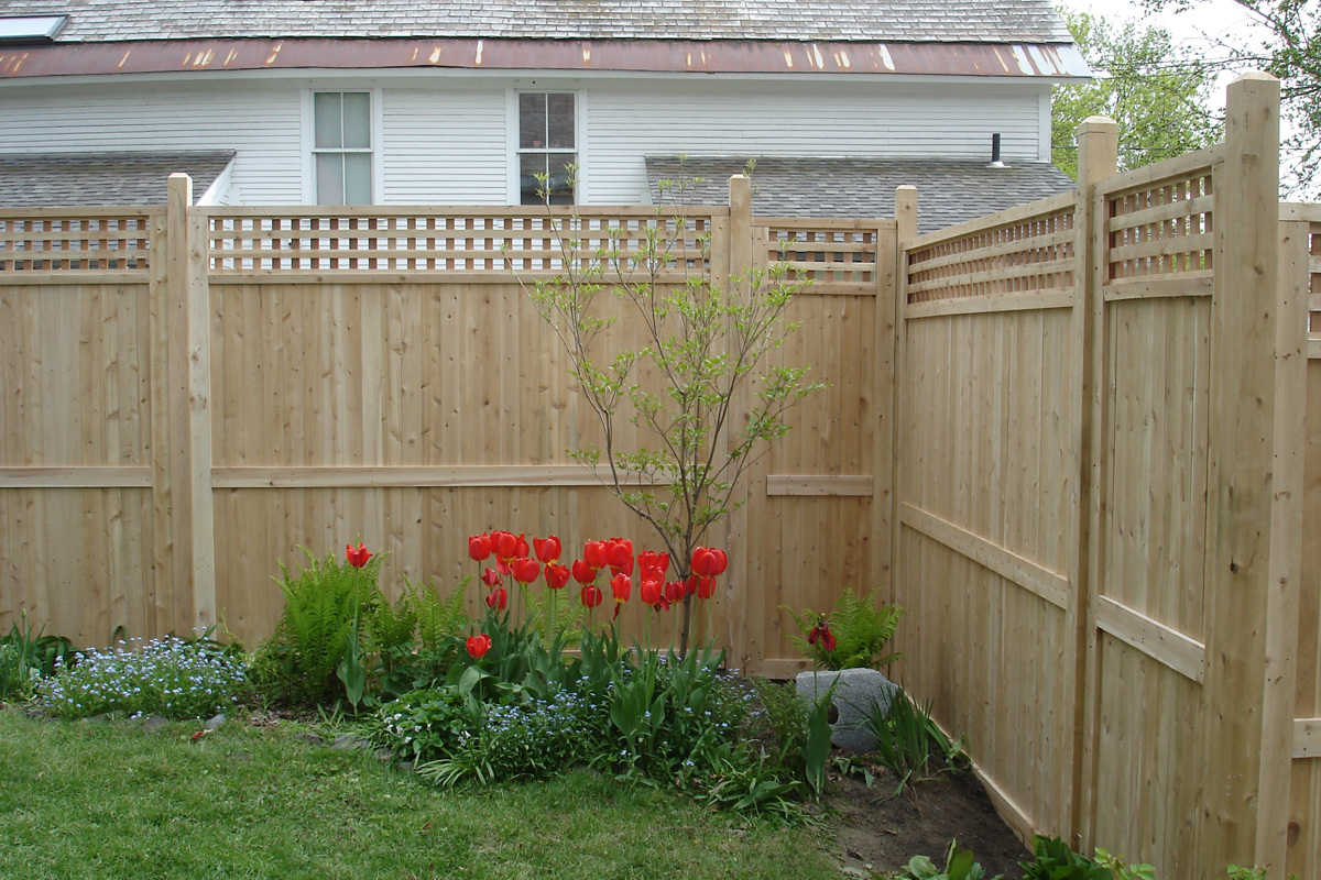 Middlebury Fence Cedar Privacy Fencing In Vermont with regard to 14 Smart Tricks of How to Make Backyard Privacy Fence