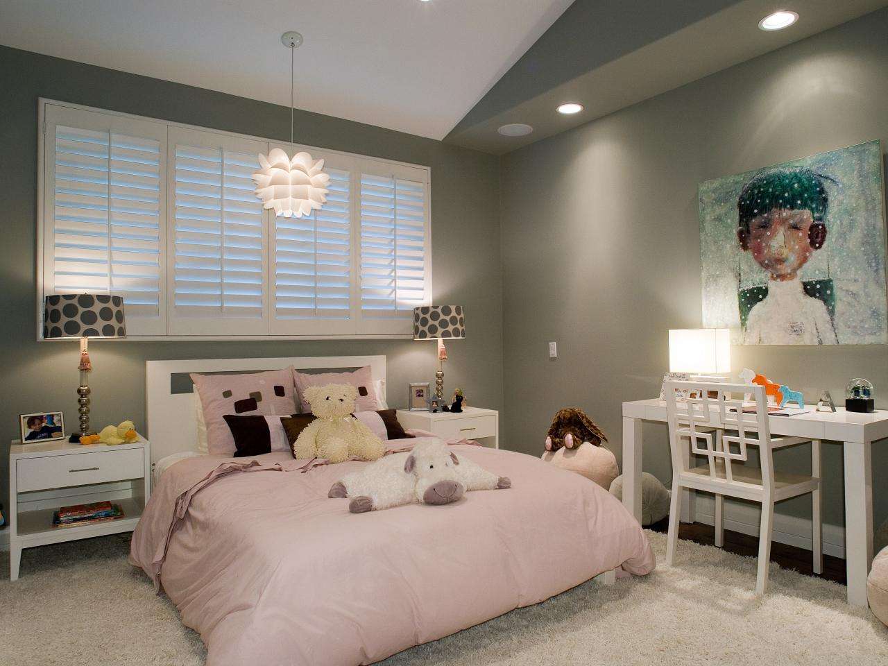 Modern Teenage Girl Bedroom Ideas Presenting Grey Wall Colors Scheme pertaining to 15 Smart Designs of How to Upgrade Modern Teenage Bedroom Ideas